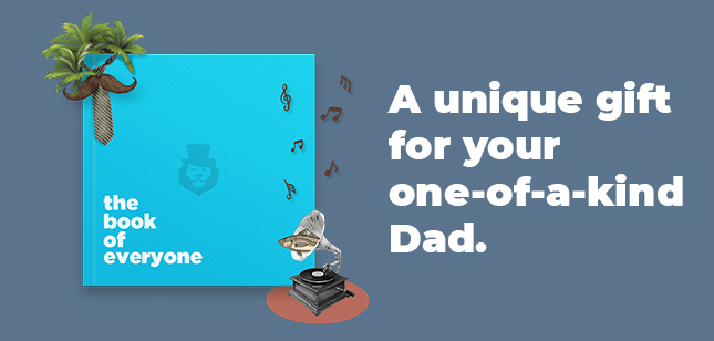 An unusually great gift for dads on father's day.
