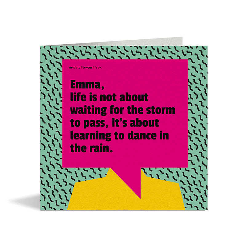 Learn To Dance In The Rain Card