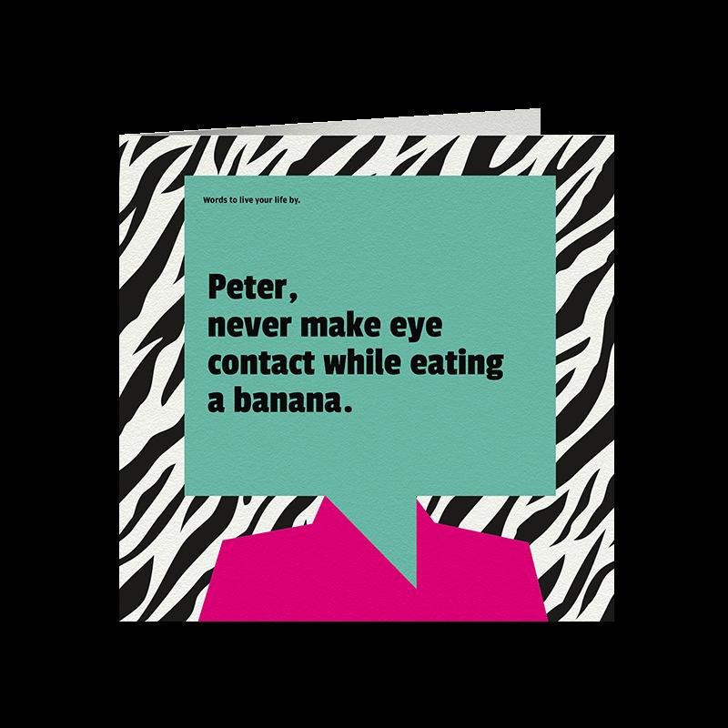 Never Make Eye Contact Card