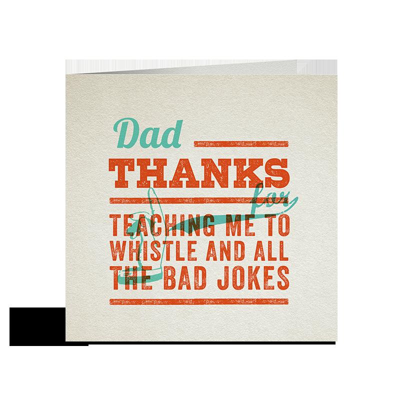 Thanks Dad Card