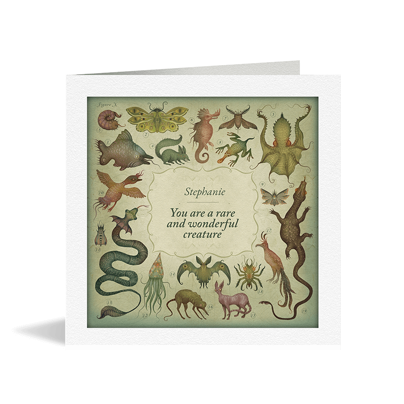 You Are A Wonderful Creature Card