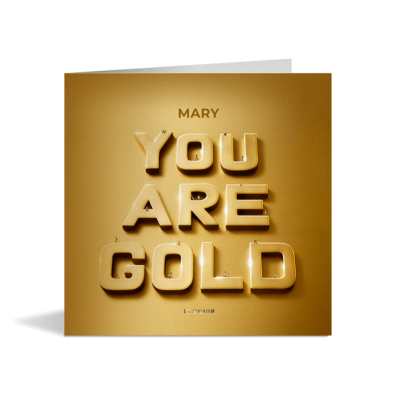 You Are Gold Card